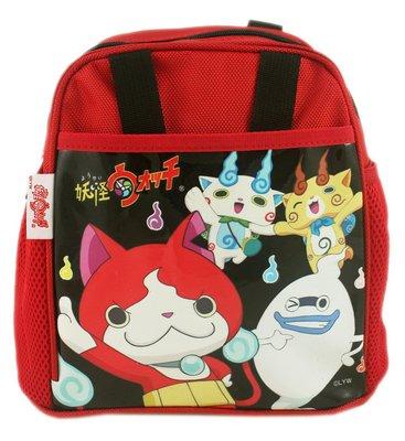 【卡漫迷】 妖怪手錶 便當袋 紅色 ㊣版 手提袋 拉鍊式 餐袋 吉胖貓 吉胖喵 威斯帕 小石獅 浮游貓