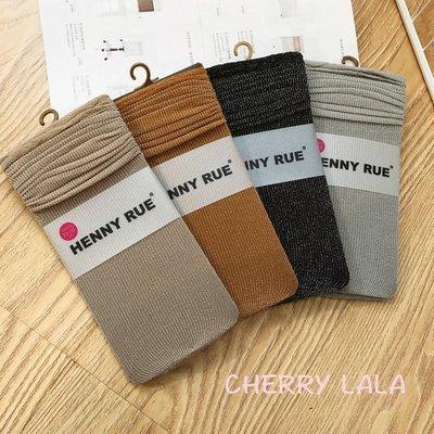 CHERRY LALA 日單 春夏新款超流行天絲絨銀蔥堆堆襪百搭時尚中筒襪 MY02168  韓妮 chic