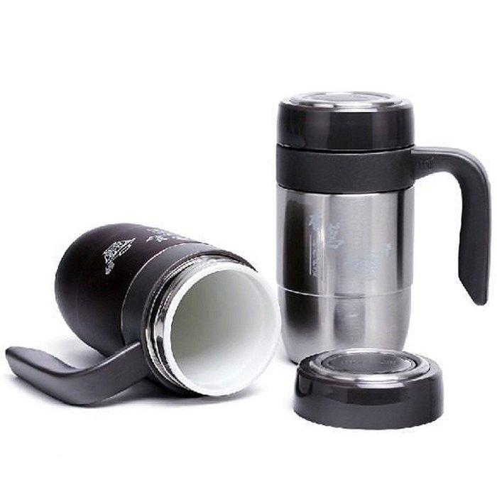5Cgo【茗道】含稅會員有優惠 9894278484 陶瓷內膽保溫杯 雙層陶瓷 辦公泡茶杯 水杯 把手 隨手杯