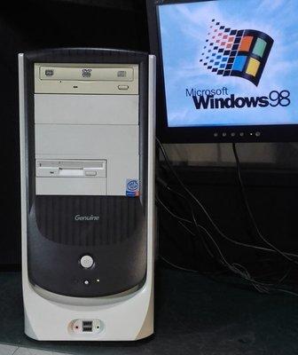 【窮人電腦】跑Win98系統!自組捷元工業主機出售!雙北桃園地區可親送!外縣可寄!