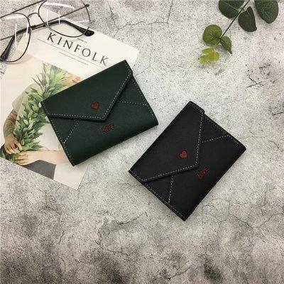 新款女士錢包女短款日韓版小清新可愛學生錢夾簡約時尚零錢包