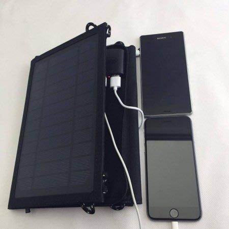 €太陽能百貨€ 太陽能手機充電器 行動充電 14W充電器 露營 爬山 戶外 USB  MP3充電 14瓦 C-39