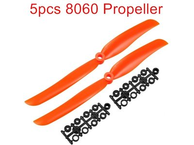 P41A 5pcs 8060 螺旋槳RC Propellers CW for RC Fixed Wing Plane Helicopter (包郵)