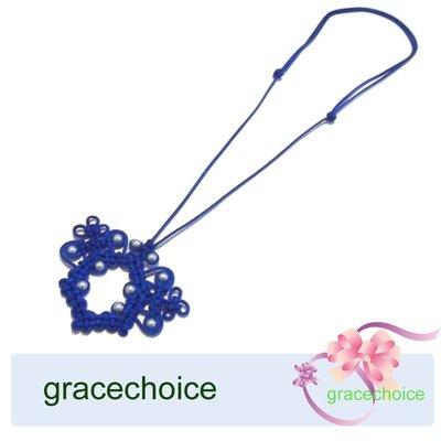 風姿綽約---老花眼鏡掛環項鍊 (A096) ~中國結編織,施華絡世奇水晶珍珠~長輩禮物