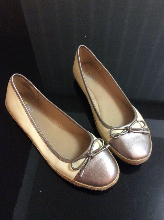 *Beauty*easyspirit米金色蝴蝶結平底鞋 娃娃鞋 7.5號(24.5)
