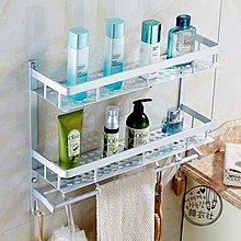 太空鋁浴室置物架折疊浴巾架2層3層多功能雙層三層衛生間毛巾架jy  【1件免運】