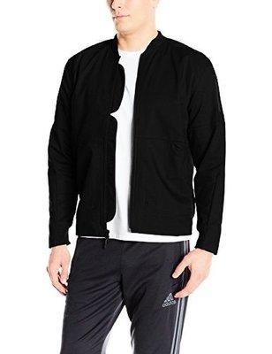 全新正品 adidas SPORT ID TWILL BOMBER JACKET 黑 外套 運動外套 棒球外套 M號