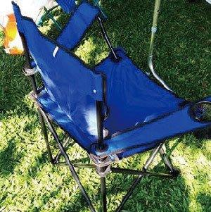 MAY SHOP【106031109】輕便好攜帶 有飲料座藍色露營椅子