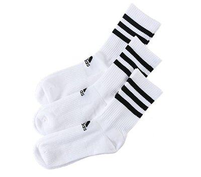 [麥修斯]ADIDAS 3S CSH CRW 愛迪達 長襪 襪子 三線 經典 三包裝 三雙包 DZ9346