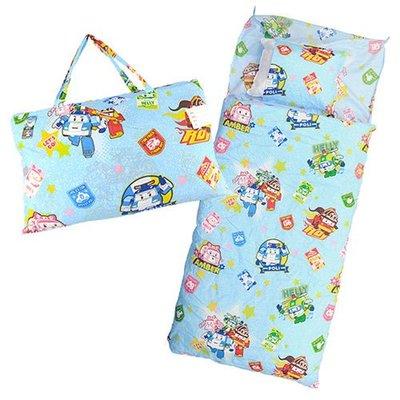 卡通造型幼教兒童睡袋-POLI 救援小英雄 波力 台灣製MIT/開學外出好攜帶/幼教睡袋/