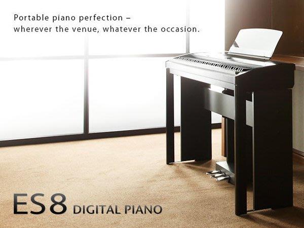造韻樂器音響- JU-MUSIC - 全新 KAWAI ES8 旗艦款 88 鍵 電鋼琴 黑色 ES-8