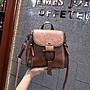 手提包新款韓版復古水桶包女側背包斜背包寬肩帶百搭女包