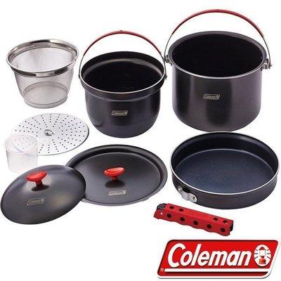 【山野賣客】Coleman CM-26764 硬鋁鍋具組 鋁合金套鍋 煮飯鍋 煎鍋 平底鍋 湯鍋