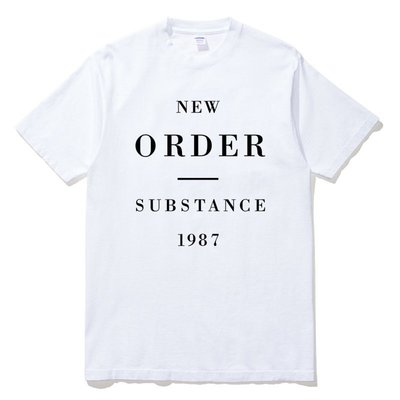 New Order - Substance 1987 短袖T恤 白色 英國滑板龐克搖滾樂團5SOS