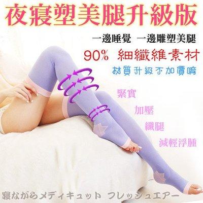 台灣製~~夜寢襪..加長77公分細纖維款..3雙600元..美腿加強版~~[免免線購]