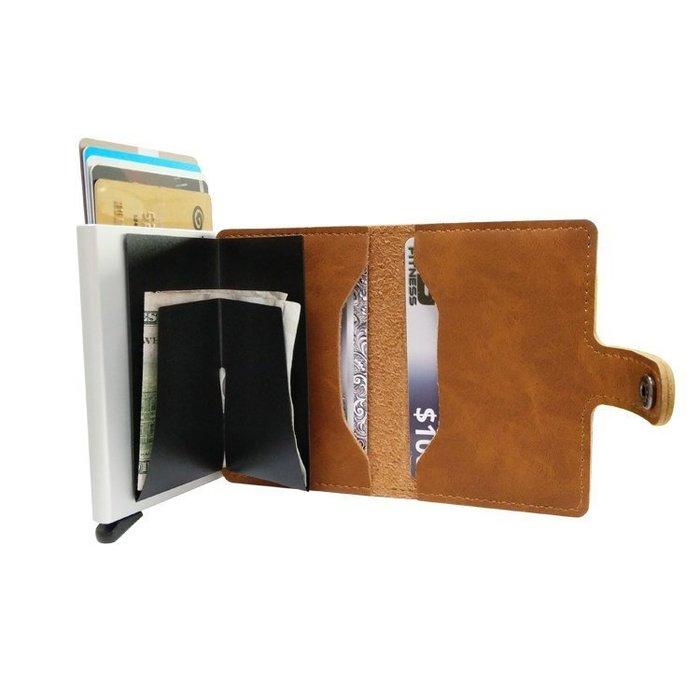 2018男女士防RFID錢包自動彈出式卡包信用卡盒  95.6*64*12.5mm