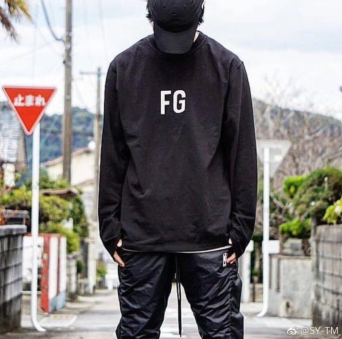 全新商品 FEAR OF GOD Long Sleeve FG T-shirt 長袖TEE
