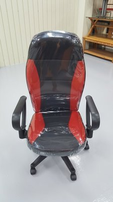 二手家具樂居 台中全新中古傢俱 EA1111AJE*全新黑紅電腦椅 賽車升降oa辦公椅 書桌椅 寫字椅*會議桌 麻桌椅
