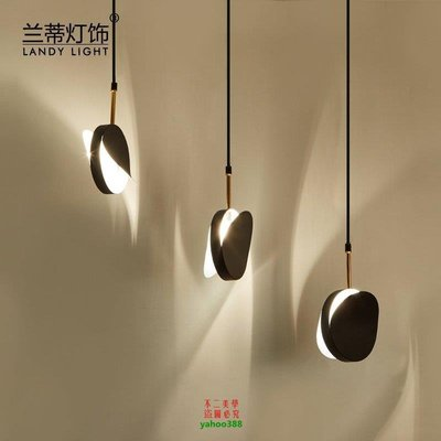 【美學】現代簡約餐廳燈吊燈三頭飯廳燈LED復古鐵藝工業風吧檯燈MX_1952