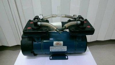 ~達順實業小舖~110V 雙頭 真空 打氣泵浦 無油膜片式 打氣抽真空都可以~外匯良品