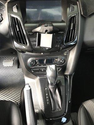 九七八汽車精品 福特 FORD FOCUS MK3 專用 空調面板 冷氣面板 卡夢 水轉 碳纖紋路 貼片 !