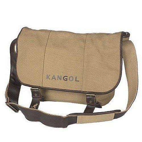 KANGOL簡約系列帆布中型側背書包KCV51030KI