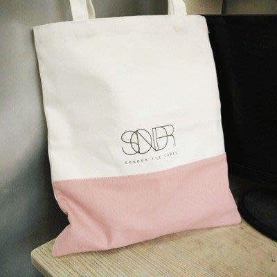 百搭手提袋帆布袋女單肩包環保購物袋帆布包韓國文藝拉錬包小方包一件免運