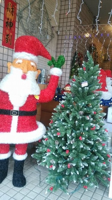 洋洋小品【4呎PVC尖頭紅果樹(裸樹)120CM高】桃園平鎮中壢 聖誕佈置 聖誕樹 聖誕燈 聖誕花圈 聖誕球 聖誕禮物