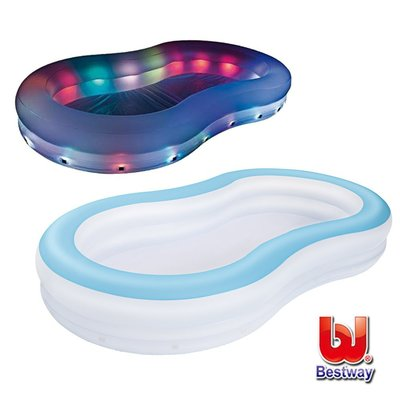 Bestway。變色彩燈家庭充氣戲水/泳池(69-33253)