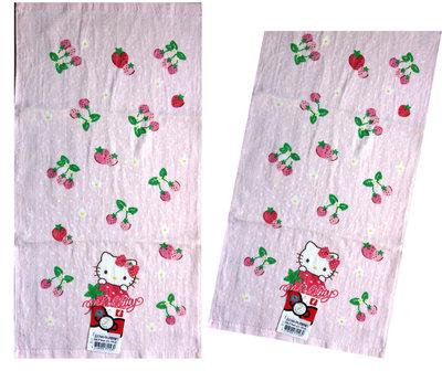 【卡漫迷】 Hello Kitty 小 毛巾 二條組 草莓季 ㊣版 童巾 純棉 台灣製 凱蒂貓 洗臉巾 擦手巾