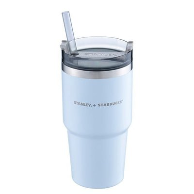 STARBUCKS × STANLEY 星巴克聯名 MB不鏽鋼TOGO冷水杯 20oz Venti 冷水杯 天空藍