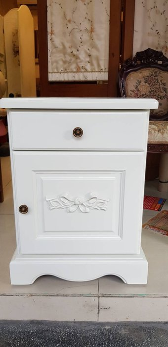 法式鄉村洗白床頭櫃 歐式雕刻.電話桌.邊櫃