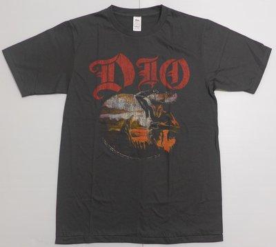 【Mr.17】DIO Holy Diver 迪歐樂團短袖T恤 vintage 古著 刷舊風T-SHIRT(BR071)