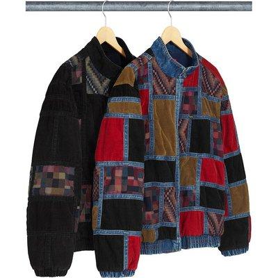 【紐約范特西】預購 Supreme FW18 Corduroy Patchwork Denim Jacket 鋪棉夾克