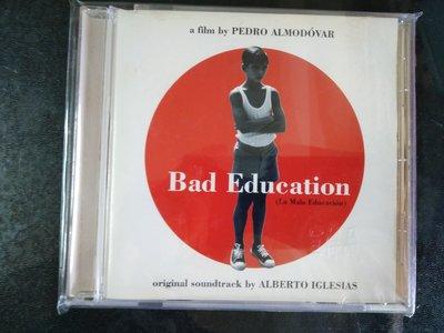 二手CD ~阿莫多瓦代表作(壞教慾)電影原聲帶,CD 保存如新,已絕版,有(宣傳品)鋼印