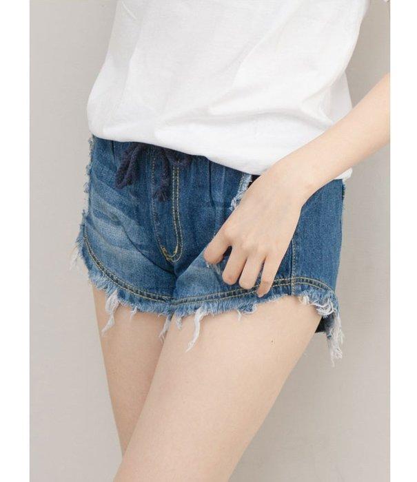 ❤Shinena 千奈公主❤韓國 ✈韓國Hanagirl 涼夏感鬆緊設計牛仔褲 短褲 熱褲