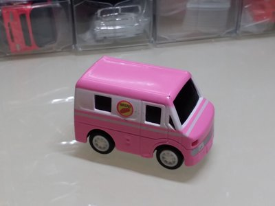 冇品牌名稱q版合金迴力車 粉紅色