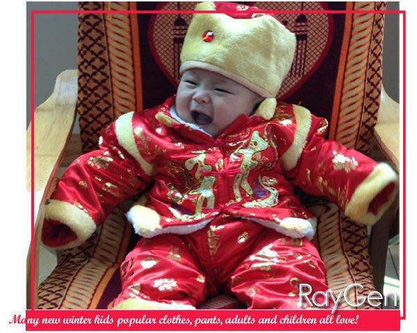 八號倉庫 新年 唐裝-喜氣洋洋過新年‧加厚舖棉綢緞寶寶3件組唐裝/套裝(多款)【3F110B1087】