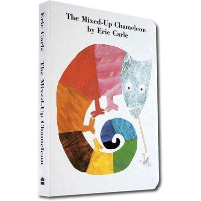 有料百貨~The Mixed-Up Chameleon拼拼湊湊的變色龍 兒童英文繪本英語啟蒙紙板書 廖彩杏書單Eric交
