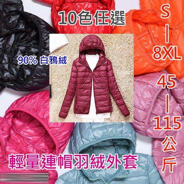 40-115公斤 S-8XL【F58】女孩輕量連帽外套附收納袋 . 特價↓ 漾貝比