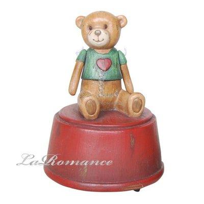 【芮洛蔓 La Romance】德國 Heidi 童趣家飾 - 綠衣甜心熊音樂盒 / 泰迪熊 / 小孩房 / 聖誕節