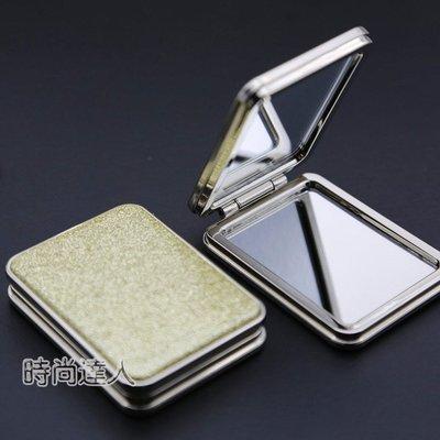 隨身化妝鏡雙面小鏡子長方形化妝鏡可愛放大韓國創意隨身鏡迷你便攜摺疊熱賣夯款