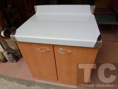 流理台【72公分工作平台】台面&櫃體不鏽鋼 淺木紋色門板 最新款流理臺
