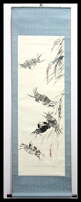 曬圖坊-純手繪-水墨畫-山水畫-花鳥畫-書法-掛軸-歡迎收購-齊白石畫風-379