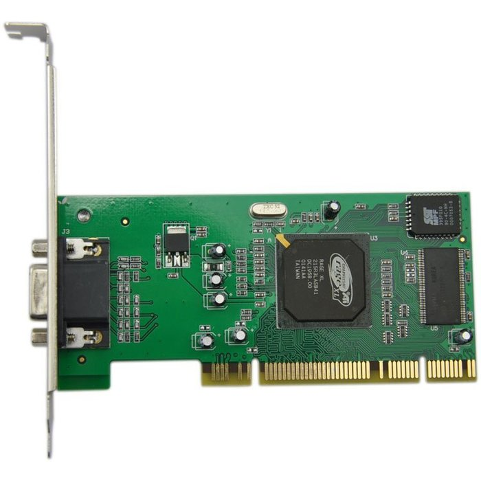 5Cgo【權宇】全新工業包ATI Rage XL PCI 8MB 拖機/伺服器/工控電腦獨立顯示卡15pin VGA含稅