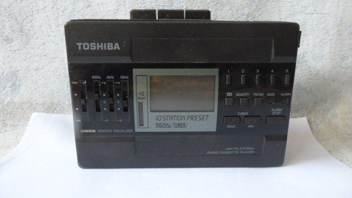 紫色小館-53--------TOSHIBA 錄放收音機