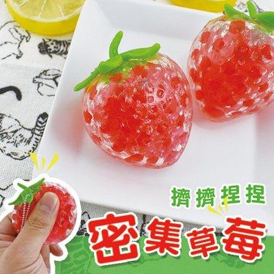 懶兔雜庫-限量! 密集 大草莓擠擠樂--軟軟 紓壓 發洩 減壓 SQUEEZE 整人捏捏樂 水果 趣味好玩KY1726