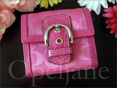 Coach 粉紅色共 ID中夾 短夾 皮夾 信用卡 證件 零錢 免運費 愛Coach包包