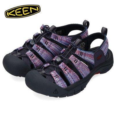 =CodE= KEEN NEWPORT H2 SANDALS編織彈性綁繩護趾防水包頭涼鞋(深藍紅)1022253 拖鞋男