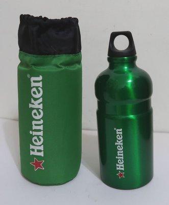 Heineken 海尼根運動水壺/隨身壺/水瓶 500ml(附收納袋)